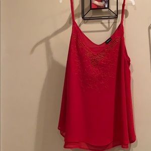 Red torrid double layer cami